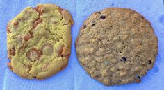 butterscotch and oatmeal chocolate chip cookies from Over the Moon in San Francisco http://placesiveeaten.blogspot.com/2014/10/over-moon-ice-cream-cookies.html