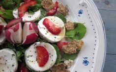 Salada de Agrião e Morangos