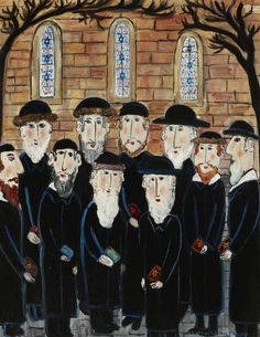 Group of Jews: The Minyan by dora holzhandler