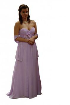 Abendkleid aus Chiffon, mit Blume