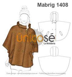 ABRIGO CAPA PONCHO MUJER MOLDE : Mabrig1408