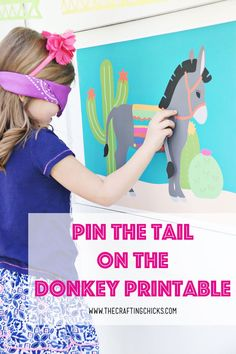 This Pin The Tail on the Donkey FREE printable is perfect for a Cinco de Mayo Party