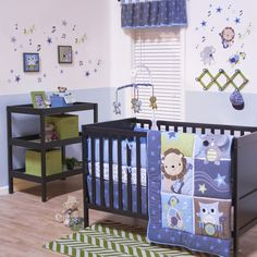Belle Jungle Jamboree 3-piece Boy Crib Bedding Set