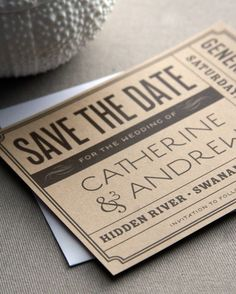 Ticket styled save the date