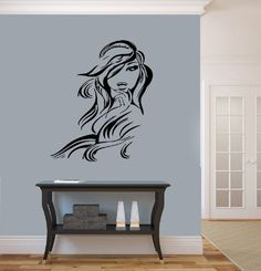 Salon Wall Art beautiful elegant woman premium removable wall art decor decal for