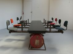"""An 8 person """"Seesaw"""" boardroom table!"""