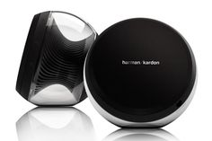 Meet the new face of cutting-edge sound: the Nova Wireless Stereo Speaker System from Harman Kardon. Designed for beauty and performance, the Harman Techno Gadgets, Gadgets And Gizmos, Wireless Stereo Speakers, Home Theater Speaker System, Nova, Harman Kardon, Modern Tech, Tablets, Digital Trends
