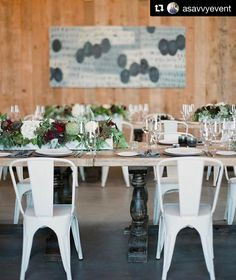 #Repost @asavvyevent with @repostapp  One of my favorite rehearsal dinners this fall! @brasswoodnapavalley is a great venue for a rehearsal dinner or a wedding! And these white chairs from @encoreeventsrentals are my FAV!!!! Gorgeous blooms by @nancyliuchin it was perfection! #asavvyevent #asekelly #design #create #inspire #love #events #napa #napavalley #winecountry #event #rehearsaldinner |Photo by: @lmaddenphoto