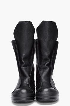 RICK OWENS Black Ramones Boots