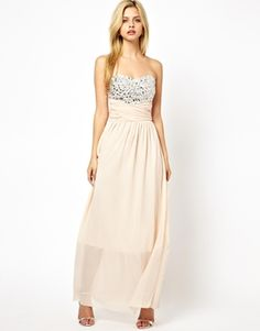 Image 1 of Club L Jewelled Bust Maxi Dress