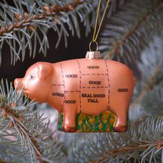 And this little Piggy went...to the butcher shop? Cutest ornament ever!