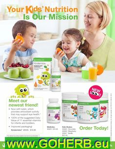 Parents! Take care of your kids' HEALTHY NUTRITION!  Order NOW! Sabrina INDEPENDENT HERBALIFE DISTRIBUTOR since 1994  Skype me: sabrinaefabio  www.verywellness.com
