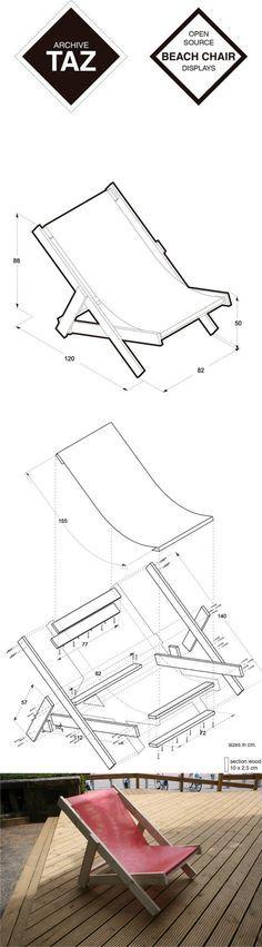 DIY Beach Chair - archivetaz.org - Tumbona de playa DIY