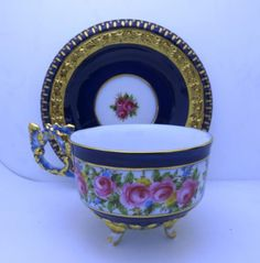 Limoges Porcelain Tea Cup & Saucer