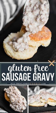 Gluten Free Country Sausage Gravy is a delicious and hearty breakfast recipe you can enjoy. Served it over eggs or gluten free biscuits. Pure comfort food! If you need to avoid eating gluten, you don't have to let it stop you from enjoying your cravings! #gravy #sausage #glutenfree #sausagegravy #creamgravy #breakfast #biscuitsandgravy #recipe