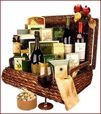 christmas wine baskets - Google Search