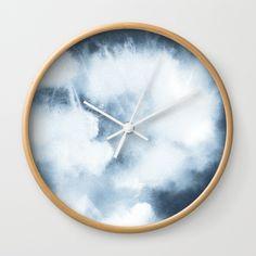 Watercolour Texture Indigo Wall Clock
