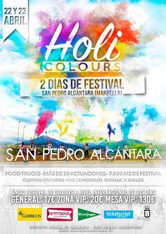1.000 entradas a aquellas personas empadronadas en el municipio que quieran asistir el domingo al festival musical 'Holi Colours' http://www.marbella-sanpedro.com/holi-colours-san-pedro-alcantara/