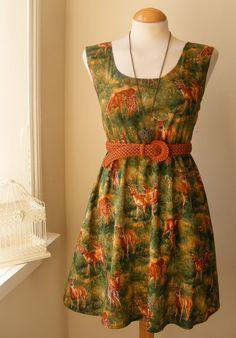 Jennifer Lilly Handmade Beautiful Deer Fawn Dress, $35.00