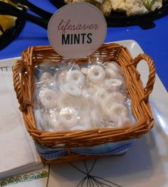 Nautical Themed Baby Shower Ideas - Lifesaver Mints