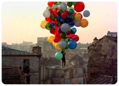 up and away #balloons #kid