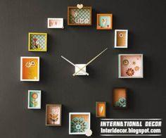frames wall clock style - modern wall clock ideas