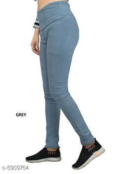 Checkout this latest Jeggings Product Name: *Denim Women Jeggings * Sizes:  32 (Waist Size: 32 in, Length Size: 38 in)  34 (Waist Size: 34 in, Length Size: 38 in)  36 (Waist Size: 36 in, Length Size: 38 in)  38 (Waist Size: 38 in, Length Size: 38 in)  40 (Waist Size: 40 in, Length Size: 38 in)  Country of Origin: India Easy Returns Available In Case Of Any Issue   Catalog Rating: ★4.1 (335)  Catalog Name: Sana Graceful Women's Jeggings CatalogID_893017 C79-SC1033 Code: 944-5909754-7521