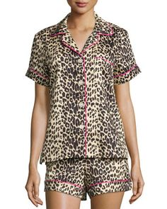 Wild+Thing+Printed+Shorty+Pajama+Set,+Leopard+by+Bedhead+at+Neiman+Marcus.