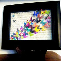 I love this butterfly picture frame! It is quite colorful and very pretty!!