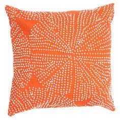 Pillow looks beaded,