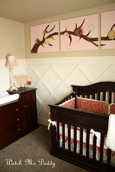 Watch Me Daddy: Nursery Reveal - love the pictures above the crib!