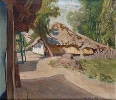 KALVODA ALOIS 1875–1934 Chalupa s doškovou střechou, 1905–1910 Warsaw, Prague, Impressionist, Rome, Art Nouveau, Castle, Auction, Fine Art, Paris
