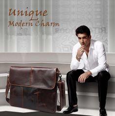 Handbags For Men, Leather Handbags, Man Bags, Men's Wardrobe, Leather Briefcase, Luxury Designer, Messenger Bags, Vintage Leather, Vintage Designs