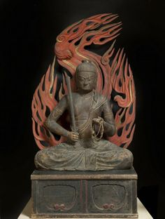 The Buddhist deity Achala Vidyaraja (Fudo Myoo) Place of Origin: Japan Date: 1000-1100 Historical Period: Heian period (794-1185)