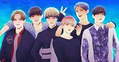 Seventeen Fanart ~ Vernon, S.Coups, Hoshi, Woozi, Mingyu, and Wonwoo