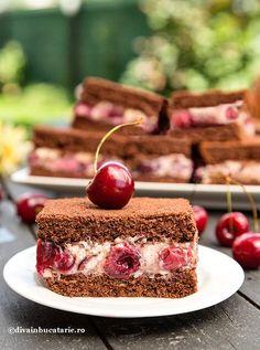 Cookie Recipes, Dessert Recipes, Romanian Desserts, Cherry Recipes, Home Food, Sweet Desserts, Bakery, Sweet Treats, Cheesecake