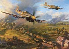 Hawker Typhoons of 198 Squadron, RAF, falsies Gap, August 1944