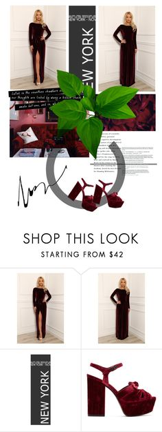 """""""Untitled #2154"""" by credendovides ❤ liked on Polyvore featuring Yves Saint Laurent and plus size dresses"""