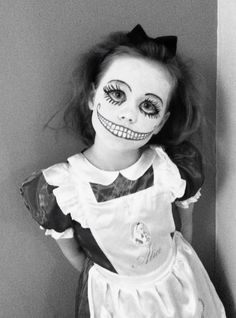 Scary Alice in Wonderland Halloween Face Painting                                                                                                                                                                                 More