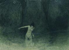 Alfred Kubin - Der Sumpf, by Aeron Alfrey, Gravure Illustration, Illustration Art, Art Sinistre, Alfred Kubin, Arte Horror, Creepy Art, Art Plastique, Illustrations, Dark Art
