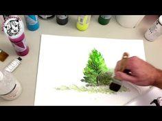 Como Pintar con Acrilicos Paso a Paso 1 Materiales y Pintar un Arbol Facil - YouTube