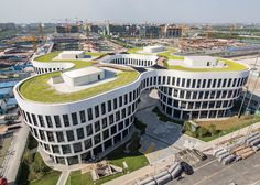 Green-roofed Flower Building springs to life in Shanghai