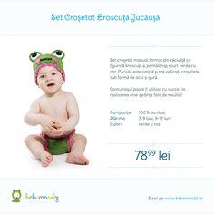 Set crosetat broscuta jucausa - http://www.bebemoodz.ro/produse/broscuta-set-croset/