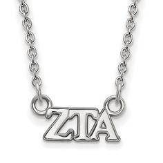 Zales Zeta Tau Alpha Sorority Drop Earrings in Sterling Silver xRiamB