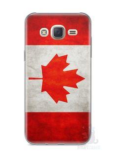 Capa Capinha Samsung J7 Bandeira do Canadá - SmartCases - Acessórios para celulares e tablets :)