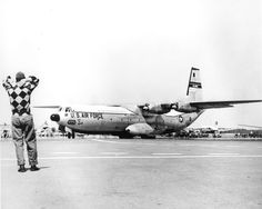 August 1957.  C-133 Cargomaster Aircraft at Dover Air Force Base.  1306-000-000 #1296p.  From the DeDO collection at the Delaware Public Archives.  www.archives.delaware.gov