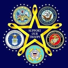 support our troops in all military branches. Anyone who knows me knows that I love all things military! Military Mom, Military Veterans, Veterans Day, Military Service, Military Signs, Military Quotes, Veterans Quotes, Military Honors, Military Cards