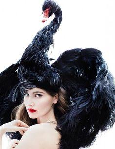 Black swan hat by Giles Deacon
