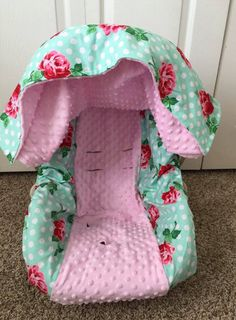 Floral Car Seat Set Cover Canopy Flower Baby