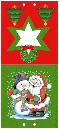 Imprimibles de Santa Claus y muñeco de nieve 2.